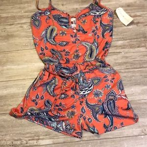 Eye candy romper w/ belt - large